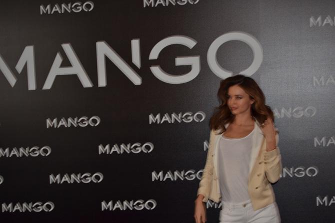 Miranda Kerr para Mango, rueda de prensa