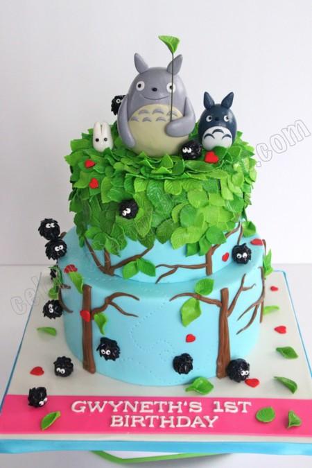 Tarta de Totoros en dos pisos