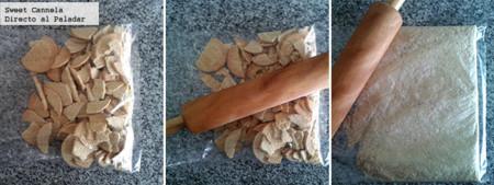Preparación base de galletas María