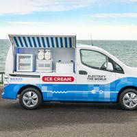 Esta furgoneta eléctrica Nissan e-NV200 es la visión moderna de Nissan del clásico camión de los helados