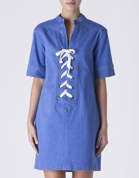Clon Vestido Denim Lazo Gucci Primavera Verano 2015 Suiteblanco 2