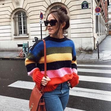 Los jerséis de punto de rayas a todo color de Asos que el street style nos ha hecho desear este invierno