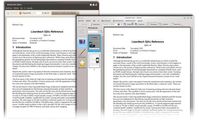 Evince y Okular, lectores para GNOME y KDE