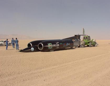 Thrust SSC, el coche que rompió la barrera del sonido