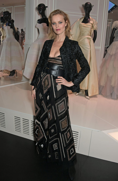 Eva Herzigova At The Christian Dior Exhibition In London 1