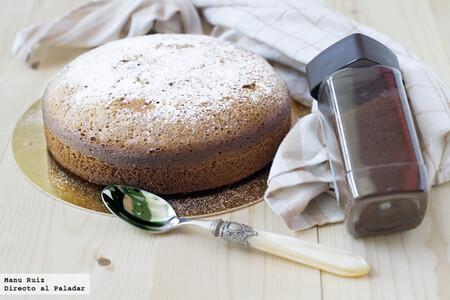 Bizcocho jugoso de café, receta fácil y rápida