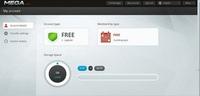 Según una primera imagen de Mega, las cuentas gratuitas  podrían ofrecer hasta 50 GB