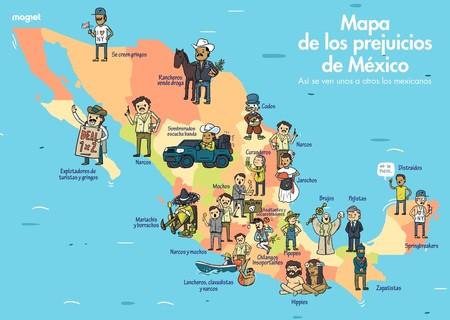 El Mapa De Los Prejuicios De México Así Se Ven Unos A Otros Los - Mapa de mexico