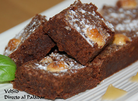 Brownie de avellana