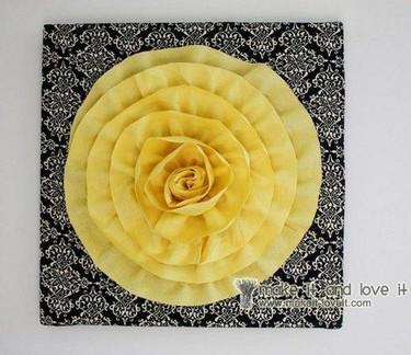 Hazlo tú mismo: un rosetón muy florido