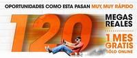 Euskaltel promociona sus 120/12 Mbps con cuotas a 42.34 euros al mes durante un año y un mes gratis