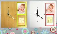 My first clock, un reloj personalizado con la huella y la foto de tu bebé