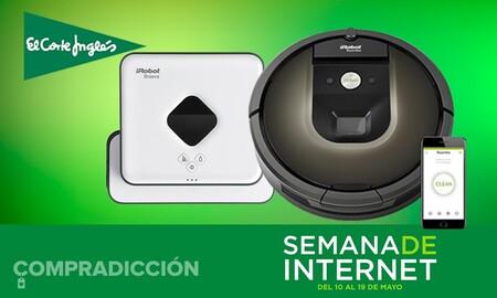 Chollazo: robot aspirador Roomba 981 con robot friegasuelos Braava 390T de regalo por sólo 489 euros en la Semana de Internet de El Corte Inglés