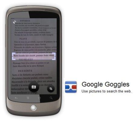 Google actualiza Google Goggles a la versión 1.7.1