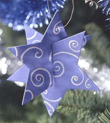 Hazlo tú mismo: estrellas en tres dimensiones para tu árbol de navidad