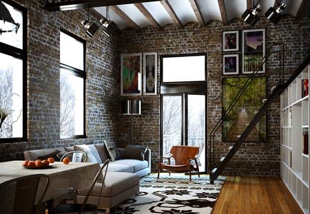 17 ideas para usar ladrillo aparente como elemento de for Casa minimalista rojo
