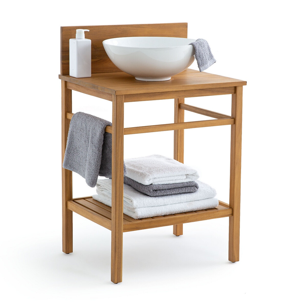 Mueble para lavabo Mercure, de acacia, 60 cm