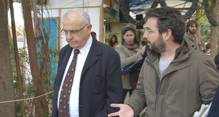 Jordi Évole con Juan Cotino