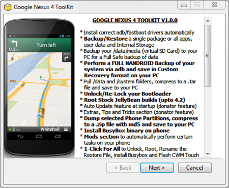 Nexus 4 Toolkit
