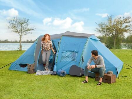 La tienda de campaña de Lidl tiene dos dormitorios, espacio para 4 personas y hoy la tienes a precio de derribo: por 69,99 euros