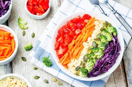 El plato más divertido y sano para los peques: ensalada arcoíris