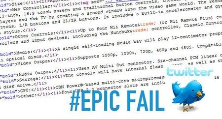 E3 2011: Se filtran por error características de Wii U. Epic Fail