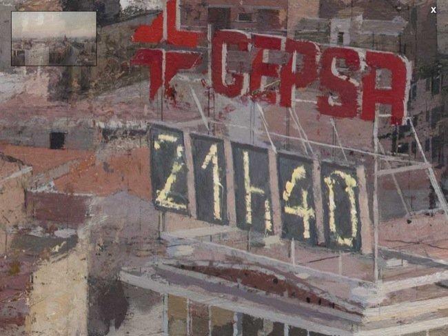 Reloj del viejo edificio de Cepsa en Avenida de América