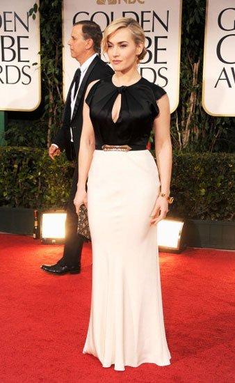 El look de Kate Winslet en los Globos de Oro 2012