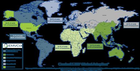 Adopción de tarjetas con chip a nivel mundial