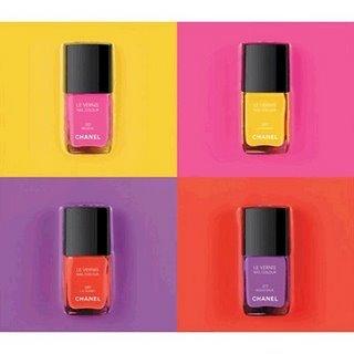 Uñas de colorines de Chanel