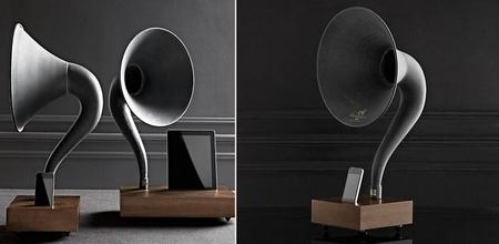 iPhone Gramophone, un bonito amplificador pasivo con toque retro