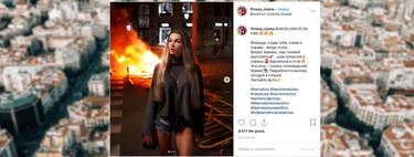 """""""Barcelona está en llamas🔥🔥🔥"""": el postureo en redes sociales llega a los disturbios en Cataluña con posados en el fuego"""