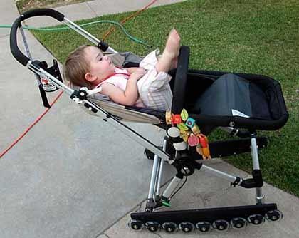 Tunear el carrito del bebé; avances en ruedas