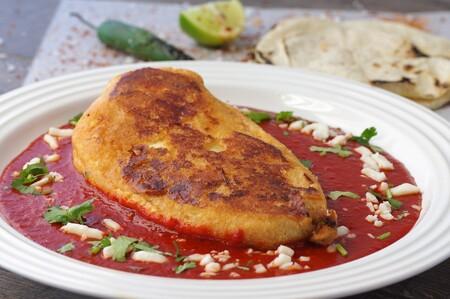 Chile relleno de quinoa con pepitas. Menú semanal