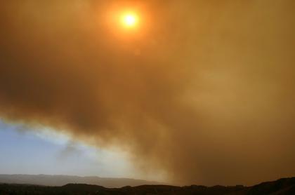 El fuego de California y la televisión