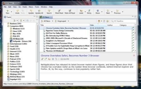 RSSOwl, un interesante lector RSS multiplataforma