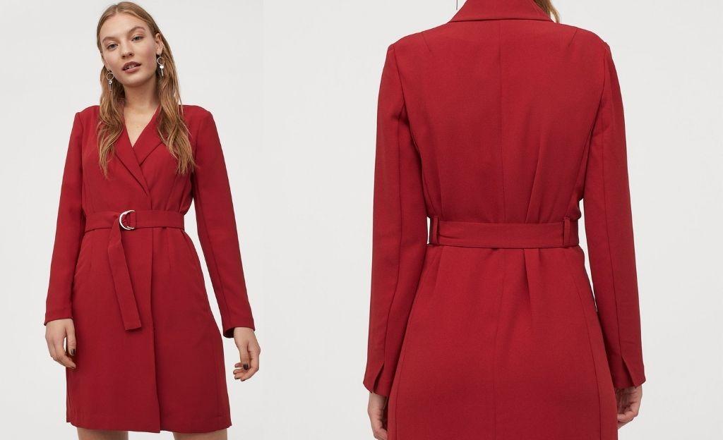 Vestido-blazer en rojo pasión