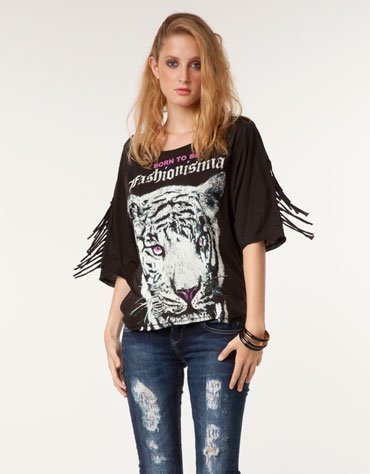 camiseta fashionisima bershka