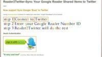Manda tus compartidos de Google Reader a Twitter automáticamente