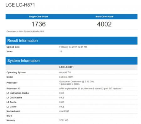 Geekbench LG H871