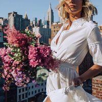 Por culpa de Meghan Markle todas queremos un vestido blanco: 9 opciones para ir arreglada a la oficina