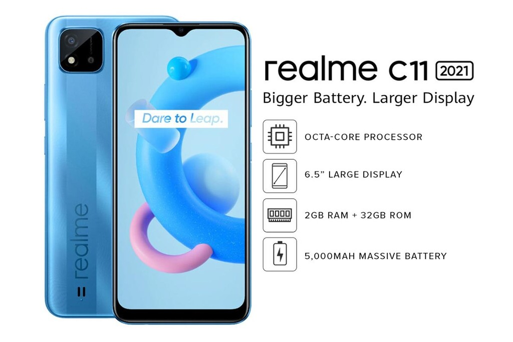 Realme C11 2021: un gama de acceso económico y con gran batería