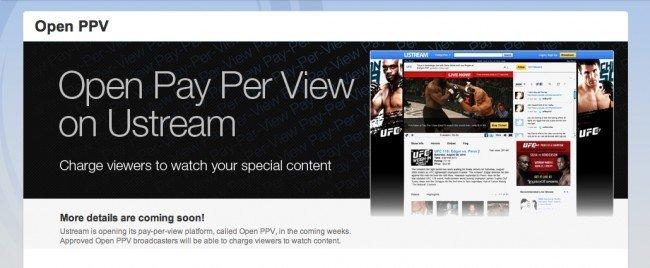 ustream ofrecerá PPV y vídeo sin publicidad