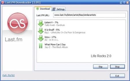 Descarga música de Last.fm con Last.fm Downloader