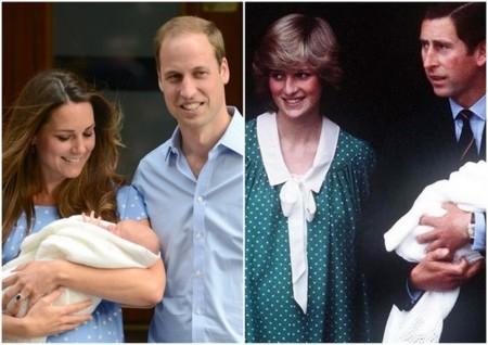 Kate Middleton y Diana de Gales presentaron a sus retoños vestidas de lunares