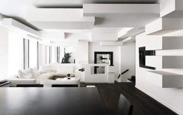 Estupendo apartamento monocromático en Paris