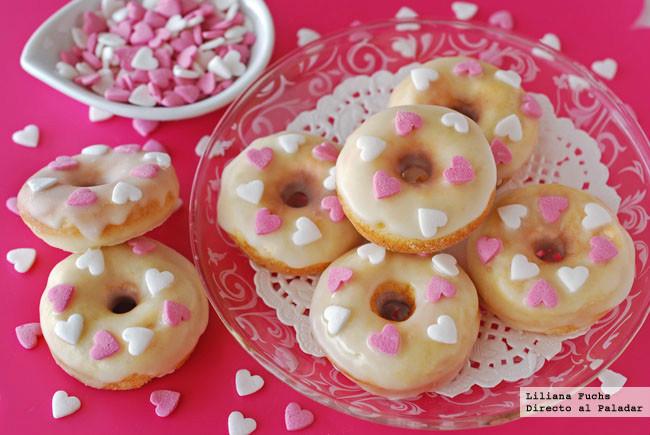 Mini dónuts de cardamomo para San Valentín