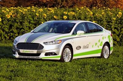 Ford Fusion Energi con un interior fabricado de botellas de plástico recicladas