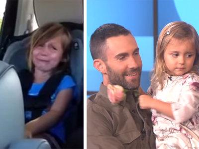 El día que el cantante de 'Maroon 5' conoció a la niña que lloró desconsolada al enterarse de su boda
