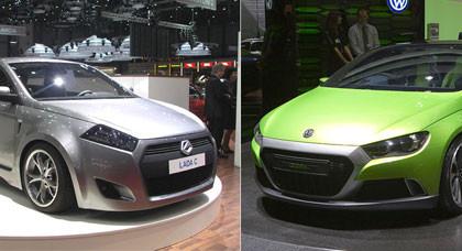 Marchando una de polémica, el Lada C Concept vs Volkswagen y Audi